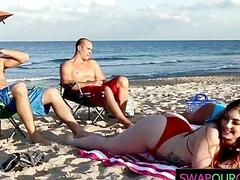 xhamster Beach bait and daugher swapping