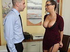 Naughty employee seduces boss...