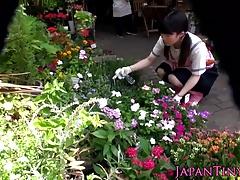 Hairy japanese amateur teen...