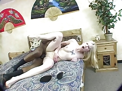 xhamster Blonde girl fucked by black cock