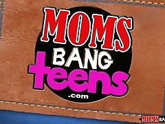 Mom joins teen stepdaughter and...