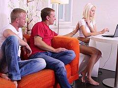 xhamster Virgin teen & two horny guys