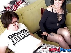 Tattooed emo Cleo Summers blows...