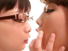 Japanese Lesbian Deep Kiss