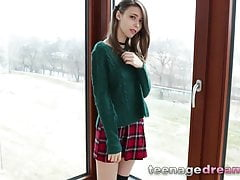Solo busty teen european in wool...