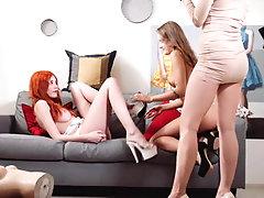 xhamster Playful lesbian models
