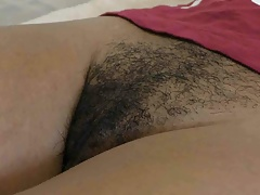 Black hairy cunt filled up with...