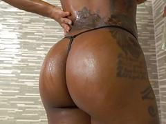 TeenyBlack  Busty Ebony Slides...