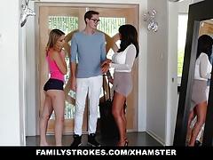 FamilyStrokes - College Bro Cums...