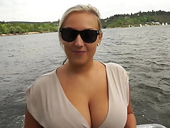 Natural titted European taking...