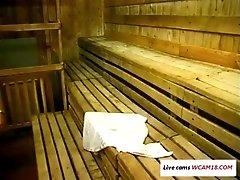 Sex in sauna WCAM18.COM