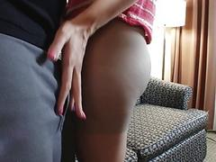 Young amateur in sexy pantyhose...