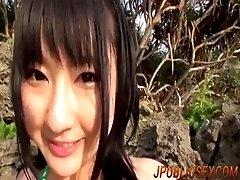 Mayuka Akimoto  blows tasty dick...