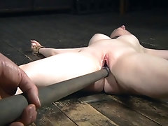 Restrained sub punished with...