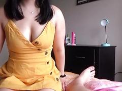 Busty Asian Step Sister Massages...