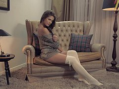 xhamster Little Caprice teasing by spreading