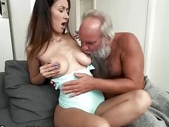 xhamster Grandpa Greets Teen Lover in His...