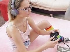 ExxxtraSmall  Gamer Gets Fucked