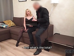 DEBT4k. Bad girl Maria tastes...