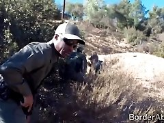 Black border officer catches hot...
