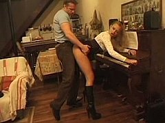 Young musician ass fucked during...