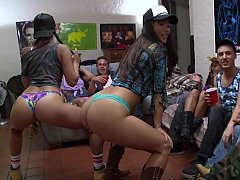 Good college girls striping and...