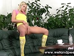 Tiny Teen Gets Off Hard After...