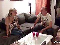 Step-Dad Seduce Young German...