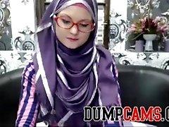 Super skinny teen in hijab