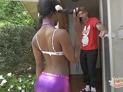 Tiny Black Teen With Braces...