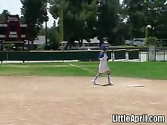 Little April Plays With Herself...
