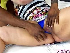 Chubby wife has cuckold pussy...
