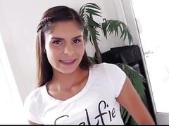 Young Petite Latina Teen With...