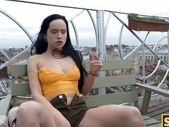 SIS.PORN. Whore with cigarette...
