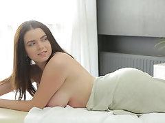 Brunette Shelia Gets a Big Load...