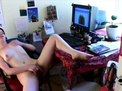 xhamster Diddling her twat to two big...