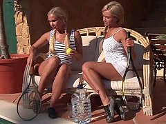 Blonde pigtailed teens Hailey...