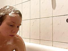 Voyeur camera in the shower