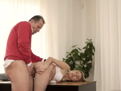 xhamster Mature lady seduces young girl...