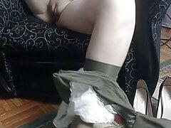sweet girl masturbates in...