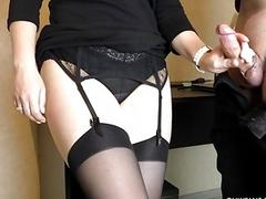 Sexy Secretary In Stockings...