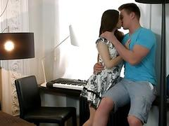 Piano lesson first-time anal