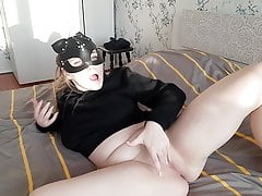 Cute Bitch Hotly Fondles Her...